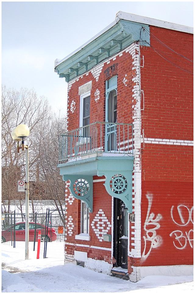 Beautiful houses on Montreal