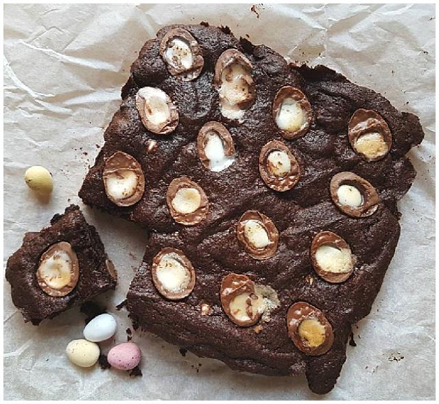 Creme egg mini egg brownies